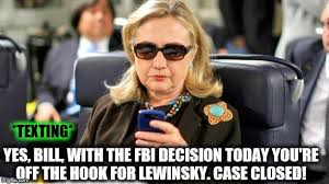 Hillary Clinton Texting Meme - hillary and bill are now even imgflip