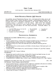 Cypress Resume Mechanical Designer Resume