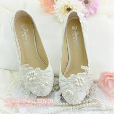 wedding shoes for girl ivory flower applique wedding shoes for wedding bridesmaid