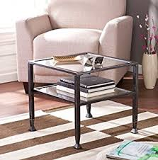 Small Coffee Table Amazon Com Southern Enterprises Glass Bunching Cocktail Coffee