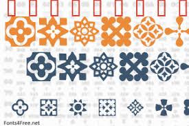 italian mosaic ornaments font fonts4free