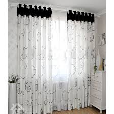 Patterned Window Curtains Modern White Black Cool Patterned Ready Made Curtains