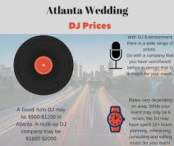 dj wedding cost atlanta wedding dj prices atlanta dj service