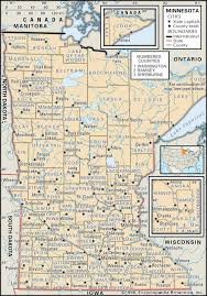 Road Map Of Michigan State And County Maps Of Minnesota