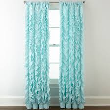 Turquoise Sheer Curtains Home Expressions Laila Ruffle Rod Pocket Sheer Curtain Panel
