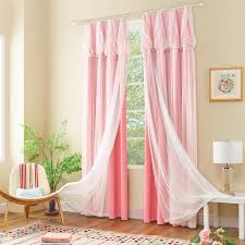 Light Pink Blinds Gigizaza Pink Dream Double Layer Tulle With Blinds Lining Window