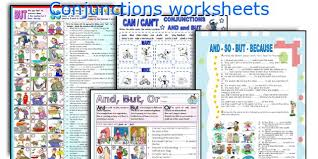 english teaching worksheets conjunctions