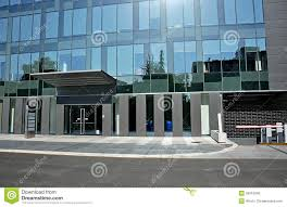 modern glass front door entrance to hotel stock photo image 50610040