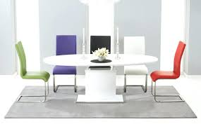 Gloss White Dining Table And Chairs Coloured Kitchen Table And Chairs Modern White Gloss Extending