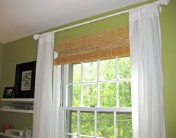 home decoration pictures of brown painted faux bamboo shades
