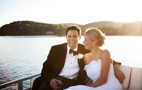 wedding on a boat wedding boat hire entertaining on sydney harbour with