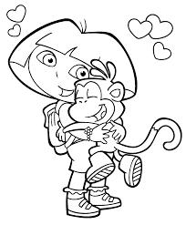 dora u0026 boots coloring coloring kids coloring