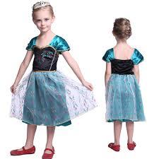 princess elsa dress fancy costume anna girls party kids cosplay
