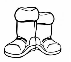 boots for winter season in winter clothing coloring page