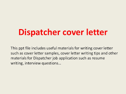 sample cover letter 911 dispatcher