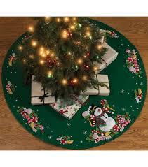 christmas skirt candy snowman tree skirt felt applique kit 43 joann