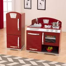 Kidkraft Urban Espresso Kitchen - gender neutral color kidkraft cranberry two piece retro kitchen