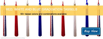 graduation tassles white and blue tassels from honors graduation