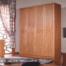 wood four modern chinese solid wood wardrobe sliding wardrobe kerr
