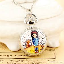 ladies pocket watch necklace images Silver high quality nice girl pocket watches children kids cute jpg