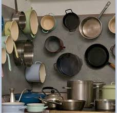 kitchen storage ideas for pots and pans 16 best pot and pan displays images on kitchen