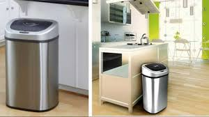 tips touchless trash can itouchless two compartment trash can