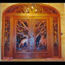 Carved Exterior Doors Outstanding Deer Carved Front Door Contemporary Image Design