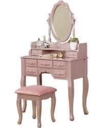 rose gold vanity table huge deal on bedroom makeup table mirrored vanity set with stool