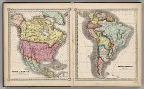 America North And South Map by North America South America David Rumsey Historical Map Collection