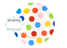coton colors happy everything plate happy everything big platter bright dot coton colors
