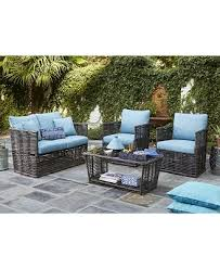 Turquoise Patio Furniture Closeout Bahiya Outdoor Seating Collection Created For Macy U0027s