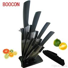 boocon brand black zirconia ceramic knife set kitchen knives