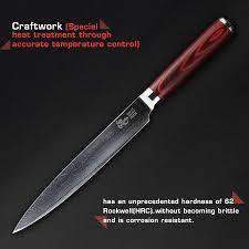 haoye 5 pcs kitchen knives set japanese vg10 quality damascus home