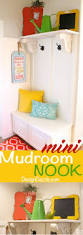 diy mini mudroom nook mudroom nook and laundry