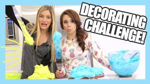 cake decorating challenge with ro nerdy nummies ijustine youtube