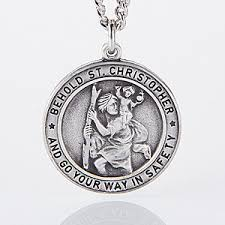engraved pendant engraved st christopher pendant for men