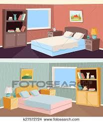 dessin chambre clipart dessin animé chambre à coucher appartement livingroom