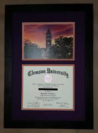 clemson diploma frame framed clemson diploma columbia frame shop