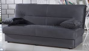 sofa bed in rainbow dark gray fabric by sunset