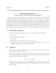 2d motion worksheet faculty