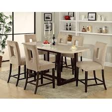 Bradford  Piece Counter Height Table Set Bar Height Kitchen - 7 piece dining room set counter height