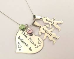 grandkids necklace personalized your childs custom embroidery 80th