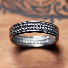 braided band white gold wedding band mens braided wedding band braided
