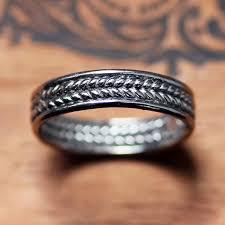 braided wedding bands white gold wedding band mens braided wedding band braided