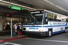 Los Angeles Airport Terminal Map by Santa Barbara Airbus Pickup Locations
