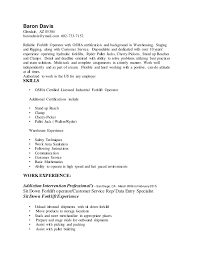 Forklift Driver Resume Examples by Enjoyable Forklift Resume 1 Unforgettable Forklift Operator Resume
