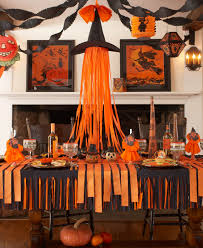 halloween dining table decorations karin lidbeck crepe paper halloween back to basics
