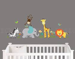 Safari Nursery Wall Decals Safari Wall Decal Nursery Wall Decal Above Crib Wall Decal