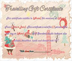 9 travel gift certificate templates u2013 free sample example