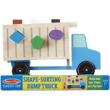 wooden truck toy melissa u0026 doug dump truck walmart com
